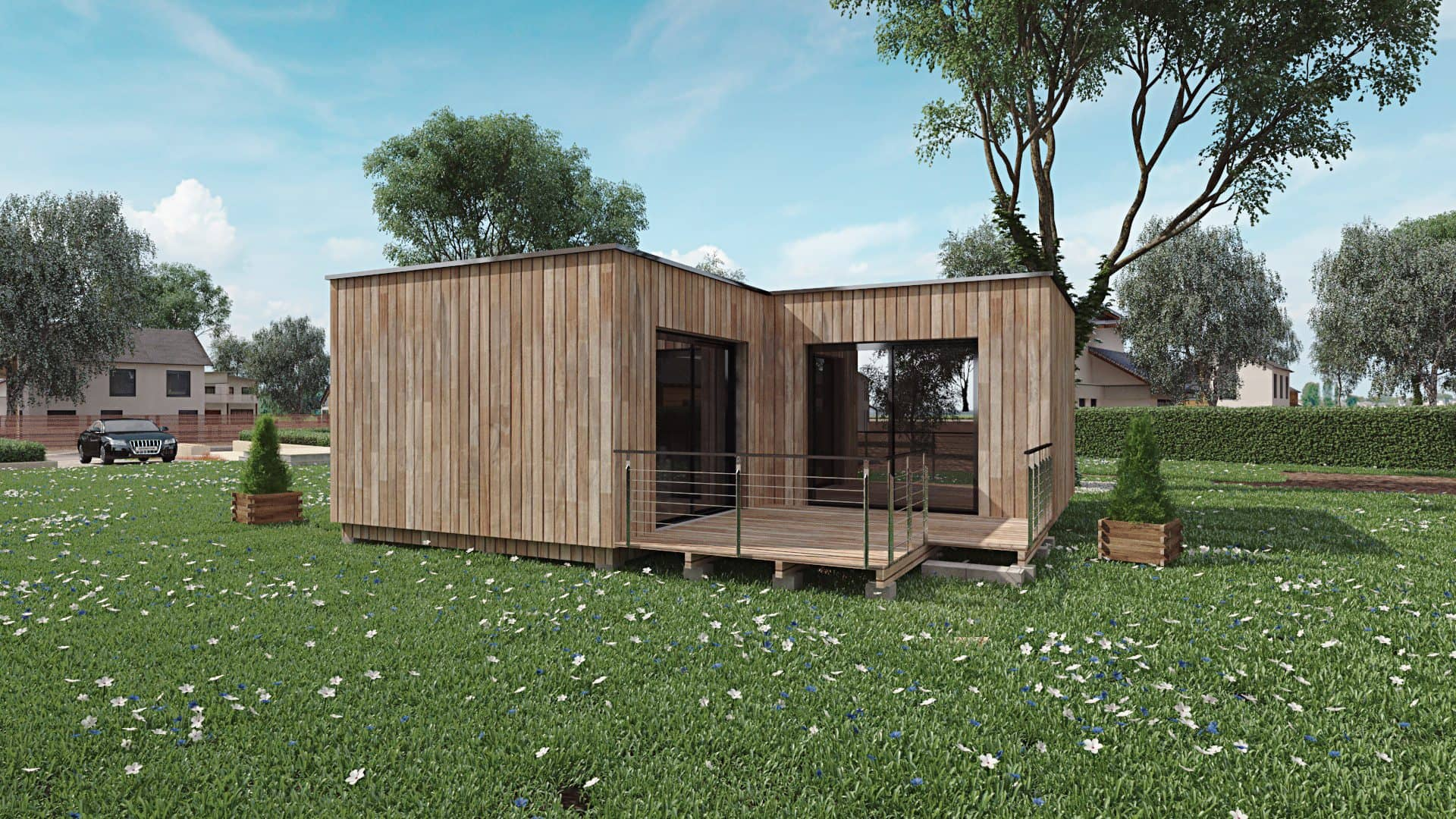 travailler son domicile dans un bureau de jardin cubelist. Black Bedroom Furniture Sets. Home Design Ideas